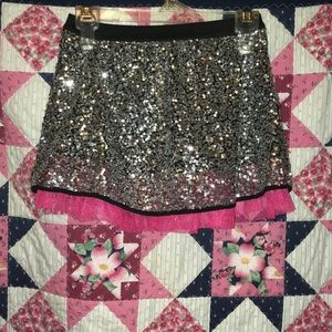 Sequin and Mesh Skirt